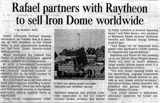 Rafael raytheon article
